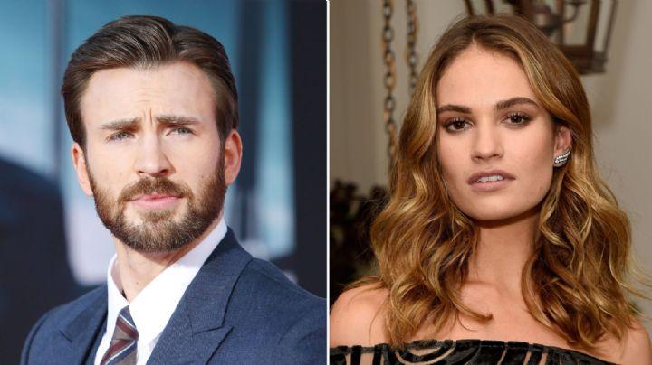 ¿Nuevo romance? Captan a Chris Evans y Lily James en una cena romántica en Londres