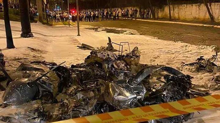 VIDEO: Muere el piloto de una aeronave que se estrelló e incendió en Brasil