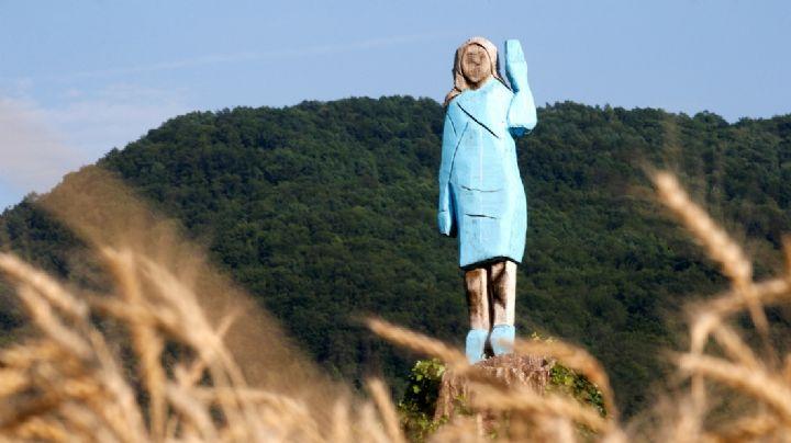 Melania Trump: Queman estatua de la primer dama de EU en Eslovenia