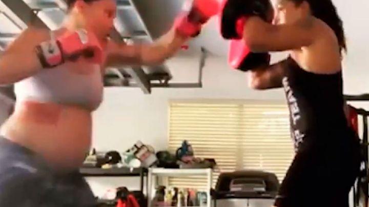 Peleadora de la UFC de 8 meses de embarazo sorprende con impresionante video
