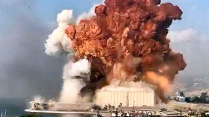 VIDEO: Así se ve el poder de la explosión en Beirut cuadro por cuadro
