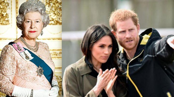 """Golpe bajo a Meghan y Harry: Reina Isabel II les hace 'desprecio' público: """"Ya no son familia"""""""