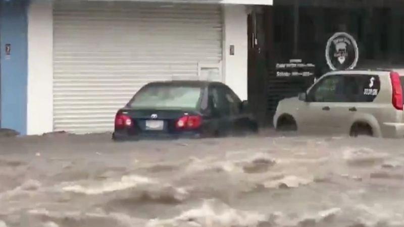 VIDEO: Tormenta Elida causa grandes inundaciones y afectaciones en el estado de Colima