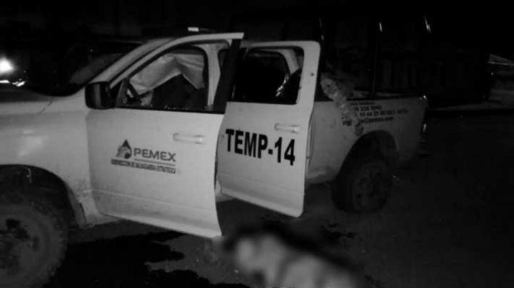 Acribillan hasta la muerte a cuatro empleados de Pemex en Hidalgo