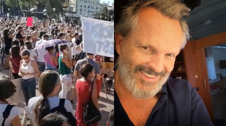 Así fue la protesta contra el cubrebocas que promovió Miguel Bosé pero no contó con su asistencia