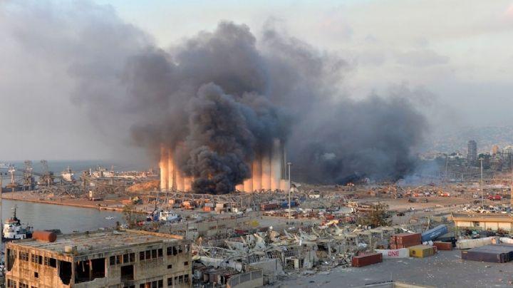 VIDEO: Dron capta imágenes devastadoras de Beirut tras las explosiones