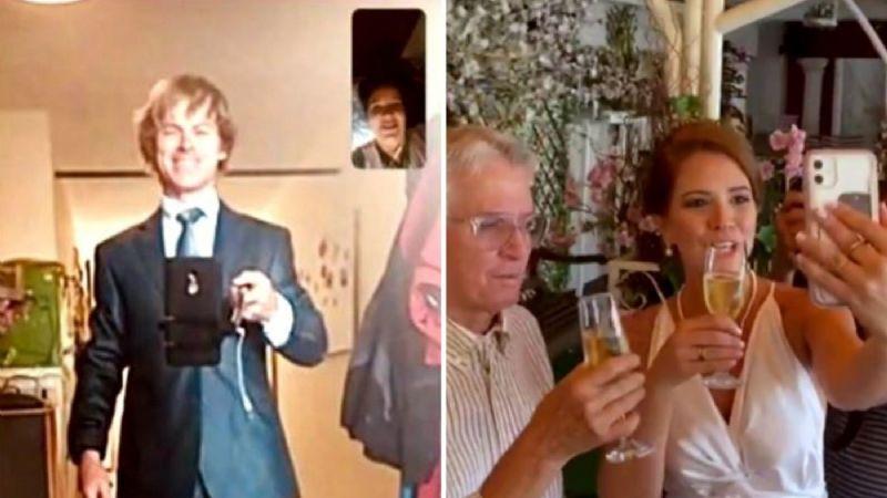 ¡Increíble! Una pareja que ni se conoce en persona se casa por videoconferencia