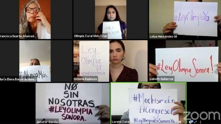 Dictamen de Ley Olimpia en Sonora debe ajustarse, señalan colectivos de mujeres
