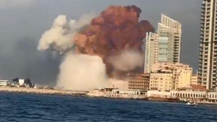 VIDEO: La impresionante explosión en el centro de Beirut que conmociona al mundo