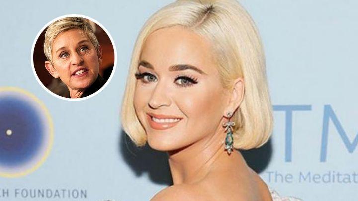 Katy Perry sale en defensa de Ellen DeGeneres tras polémica de supuesto abuso a empleados