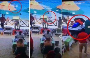 VIDEO: Moto acuática arrolla a una pareja en un restaurante de Cabo San Lucas