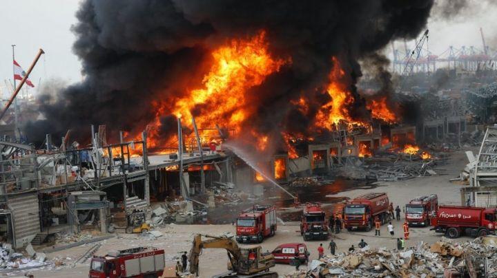 VIDEO: Gran incendio vuelve a provocar pánico en Beirut, Líbano