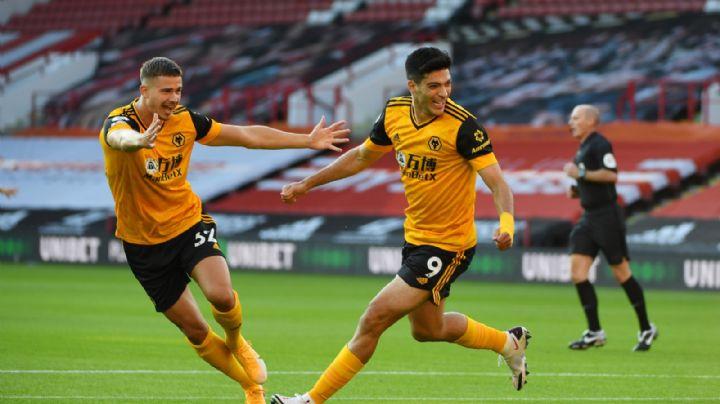 Raúl Jiménez no pierde el tiempo y anota uno de los goles más rápidos del Wolverhampton