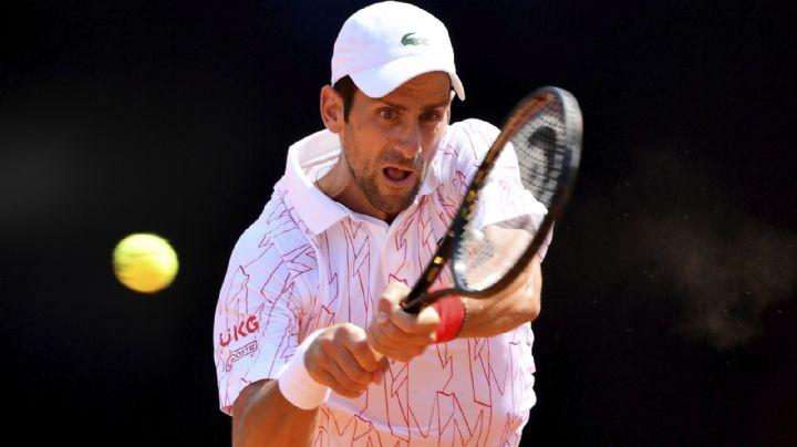 Djokovic se porta mejor al debutar con triunfo en el Abierto de Italia