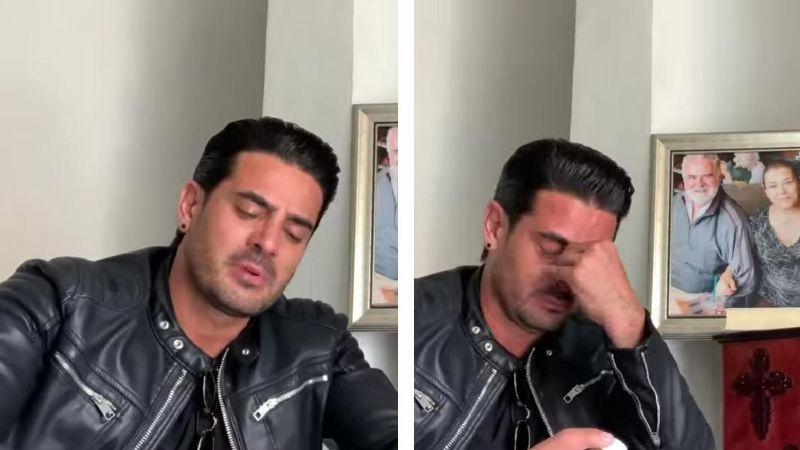 """Al borde del llanto, actor de Televisa reaparece tras muerte de sus papás: """"Se me fueron"""""""