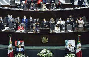 Rinden homenaje a legislador fallecido por Covid-19 en San Lázaro