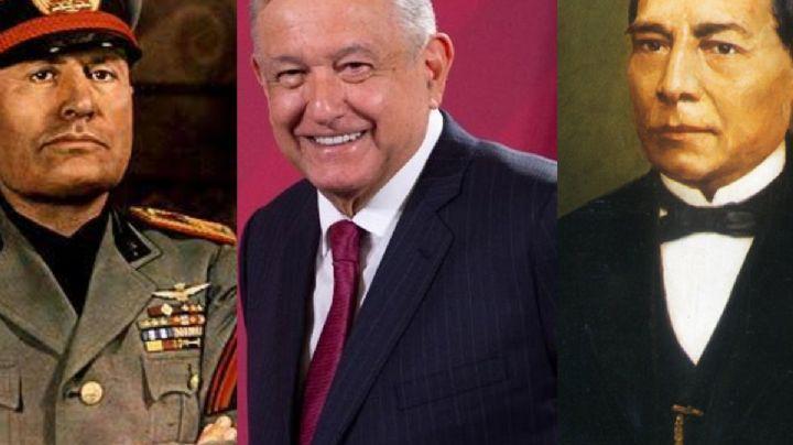 """AMLO: """"Benito Juárez fue tan importante que Mussolini lleva su nombre"""""""