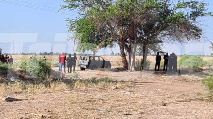 Encuentran cuerpo dentro de camioneta calcinada en Obregón; es la víctima 33 del mes