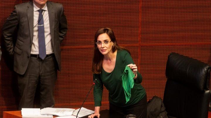 """Lilly Téllez provoca la ira de redes con una frase sobre el aborto: """"El trapo verde es muerte"""""""