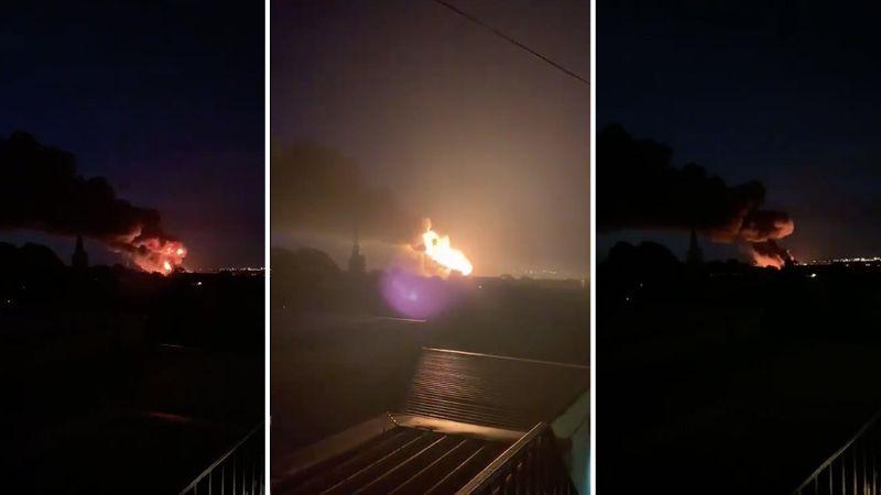 VIDEO: Explosiones en un edificio industrian provocan enorme incendio en Reino Unido
