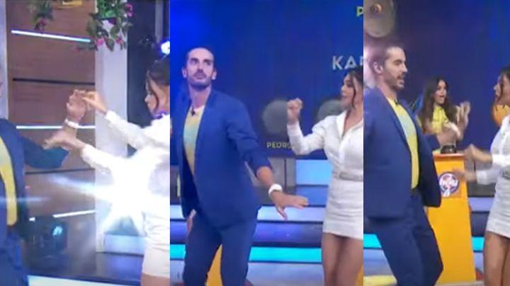 Livia Brito se olvida de la crítica y presume en vivo sus pasos de baile junto a conductor de 'Hoy'
