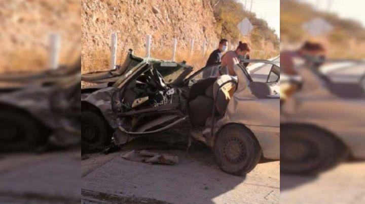 Nogales: Mueren dos personas tras aparatoso choque en carretera Internacional