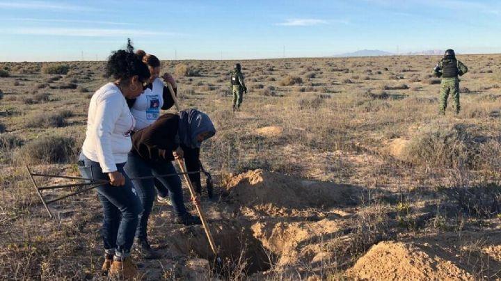 Madres Buscadoras encuentran cuerpo de hombre en carretera Caborca-Sonoyta