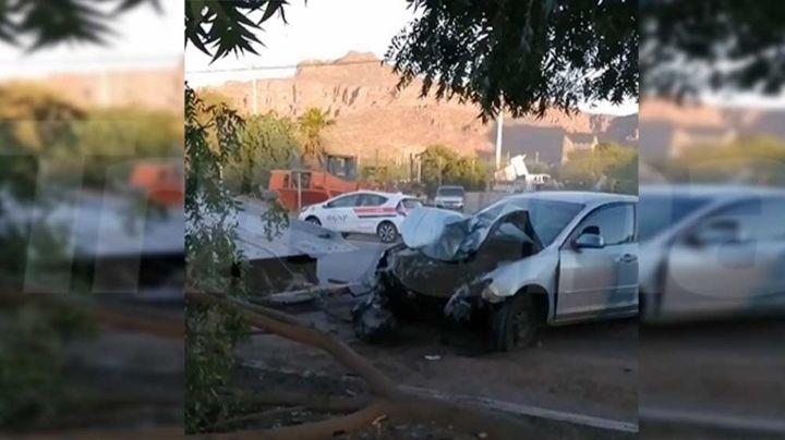Choque en Guaymas deja saldo de un lesionado; posible fractura de piernas