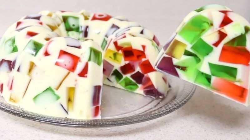 Receta bastante sencilla para preparar una deliciosa gelatina de mosaico