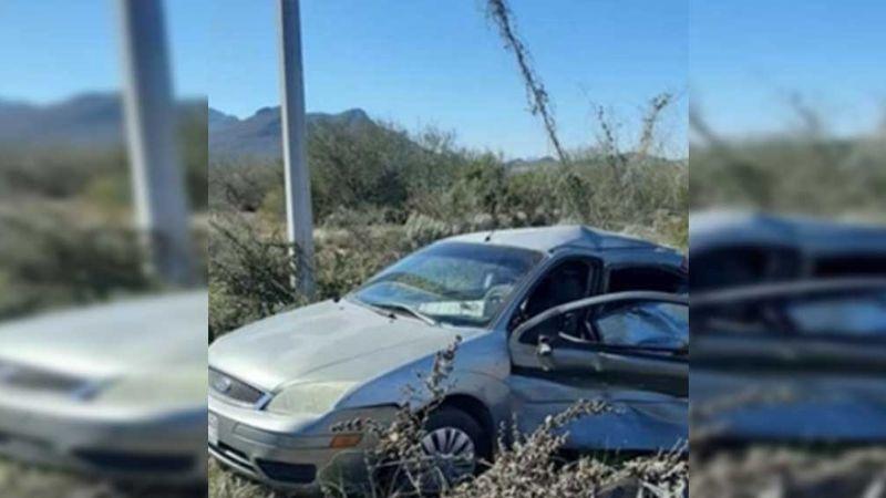 Guaymas: Dos personas resultan lesionadas tras accidente en carretera al aeropuerto