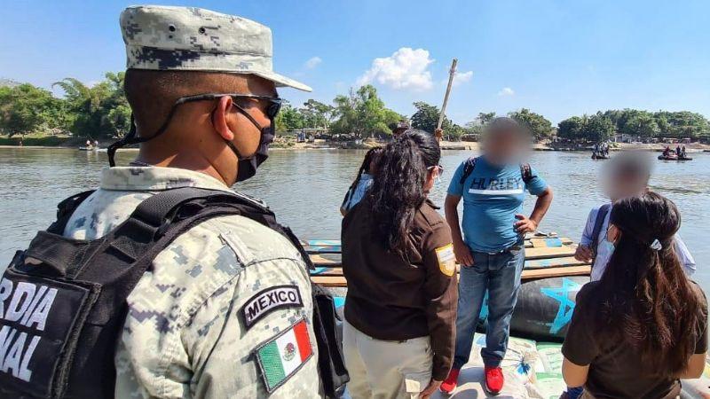 Autoridades realizan operativo en la frontera sur tras posible llegada de migrantes hondureños