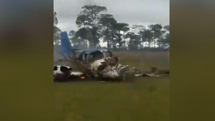 Piloto de una avioneta sobrevive de 'milagro' luego de desplomarse en Chiapas