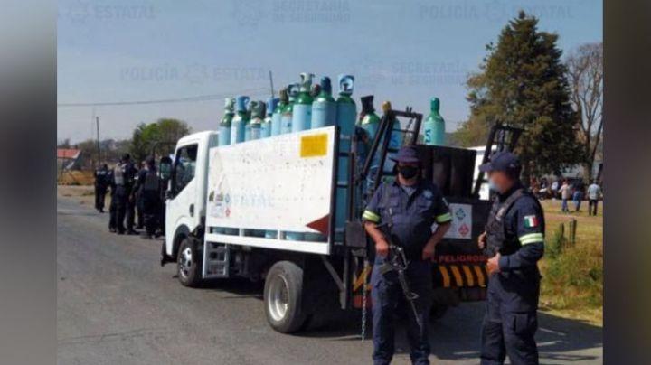 Uniformados recuperan los tanques de oxígeno robados en Tultepec