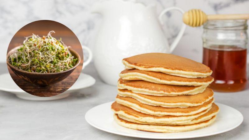 ¡Buenos días, a desayunar! Prueba estos deliciosos hot cakes de germen de trigo