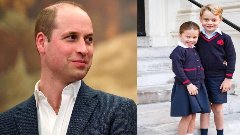El Príncipe William responde a la pregunta sobre cual de sus hijos es más 'descarado'