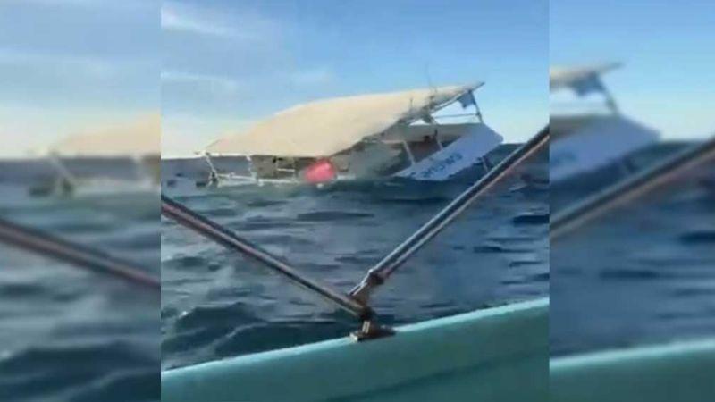 Crucero en Puerto Vallarta se hunde con 60 pasajeros; no se reportan lesionados