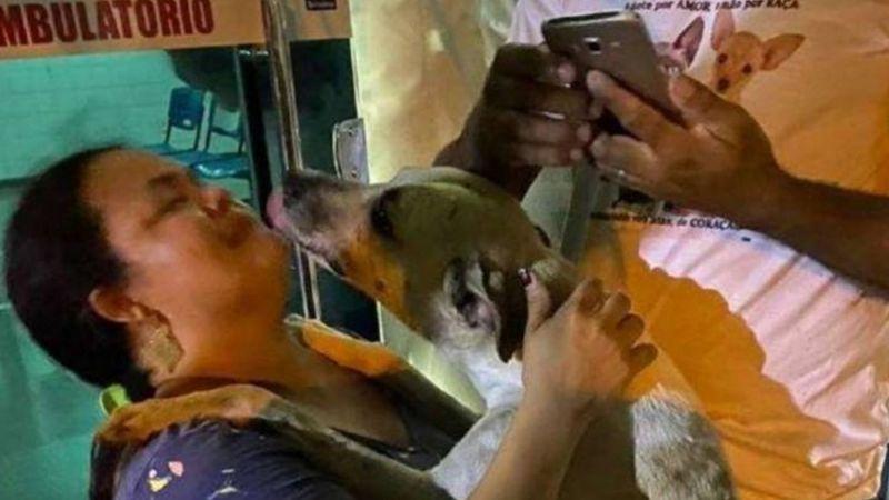 Tras perder a su madre a causa del Covid-19, mujer adopta a perrito como consuelo