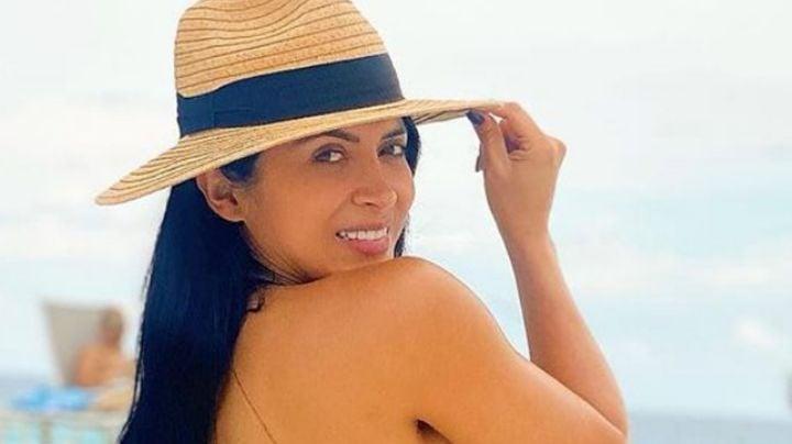 Kimberly Flores, esposa de Edwin Luna, muestra sus mejores pasos de baile en TikTok