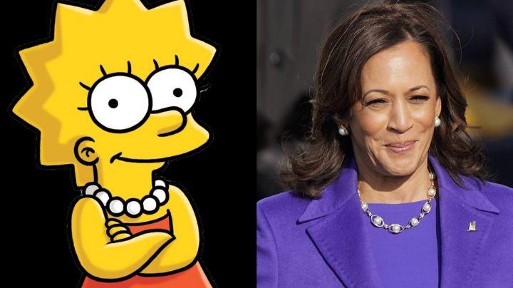 'Los Simpson' desatan polémica; predicen el atuendo que usaría Harris durante la investidura