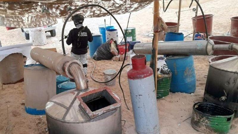Golpe al narco en Sonora: Destruyen laboratorio clandestino en Puerto Peñasco