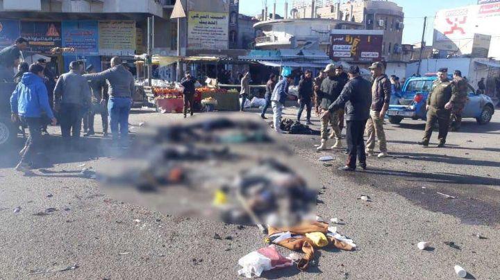 VIDEO: Así fue la explosión suicida que cobró la vida de 32 personas en Bagdad