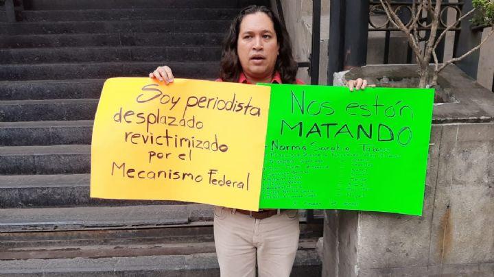 Periodista amenaza con inmolarse si no recibe una respuesta del gobierno de México
