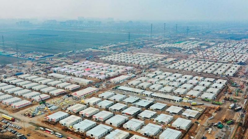 Coronavirus: Construyen un enorme campo de cuarentena para frenar el nuevo brote