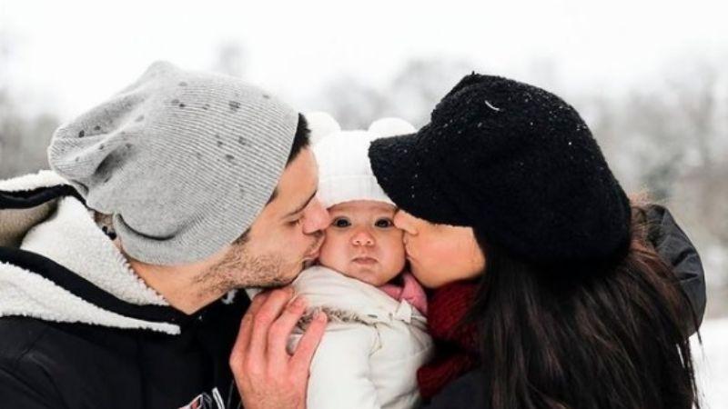 Raúl Jiménez y Daniela Basso celebran los primeros seis meses de Arya