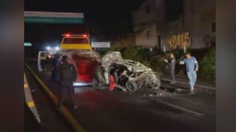 Conductor muere de forma trágica al volcarse en la autopista México-Acapulco