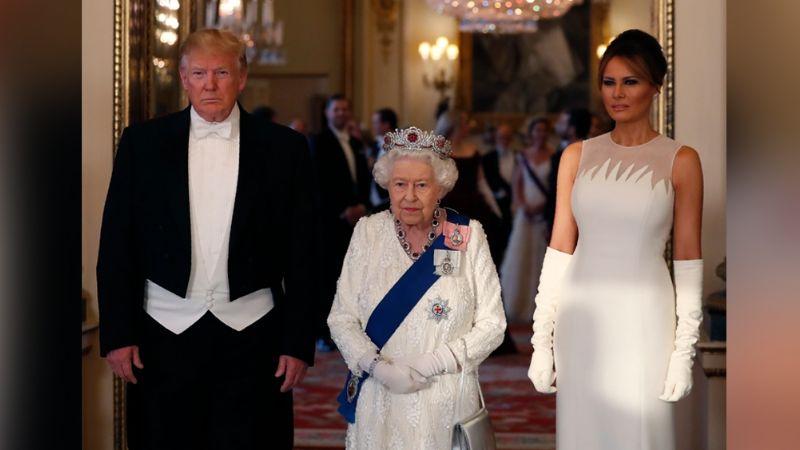 Polémica en la Realeza: Reina Isabel II desafía a Trump y rompe el protocolo al hacer esto