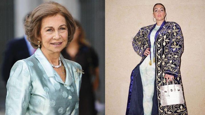 Georgina Rodríguez, novia de Cristiano Ronaldo, recibe sorpresa de la Reina Sofía de España
