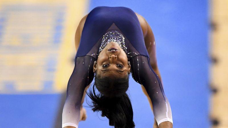 La gimnasta Nia Dennis celebra la 'Excelencia negra' en una rutina de piso casi perfecta