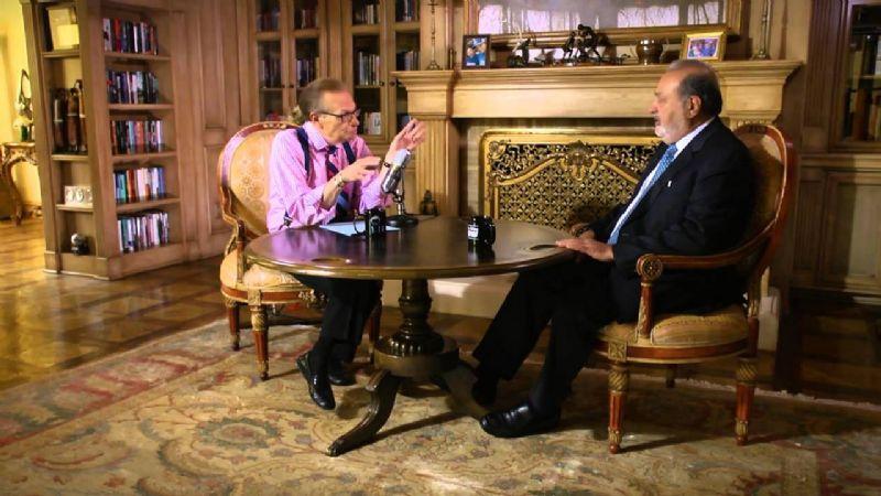 Carlos Slim Domit despide con emotivo mensaje al presentador Larry King