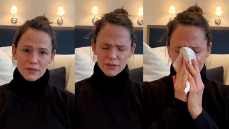 VIDEO: Jennifer Garner reaparece en Instagram y preocupa a fans al romper en llanto